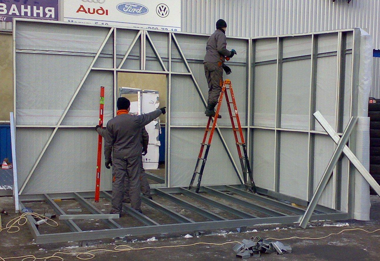 Построить торговый павильон своими руками